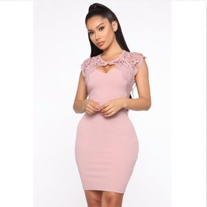 Fashion Nova You Almost Had Me Pink Midi Dress